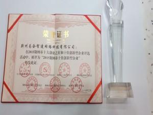 """为企网被评为""""2015荆州市十佳创新型企业"""""""